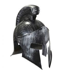 Sej spartaner hjelm i metalgrå plastik