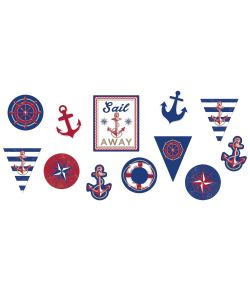 12 flotte papdekorationer i maritimt tema