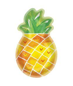 Flot ananas formet paptallerken