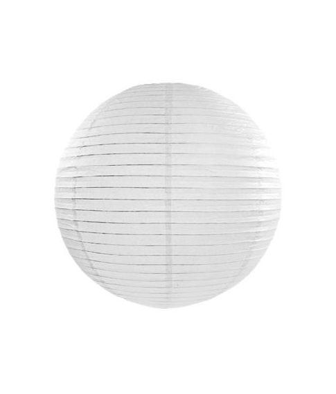 Hvid rispapir lampeskærm til ophæng til bryllup og konfirmation.