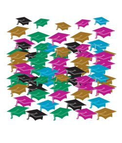 Flot gradueringshat konfetti