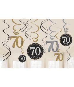 Flotte loftspiraler til 70 års fødselsdag