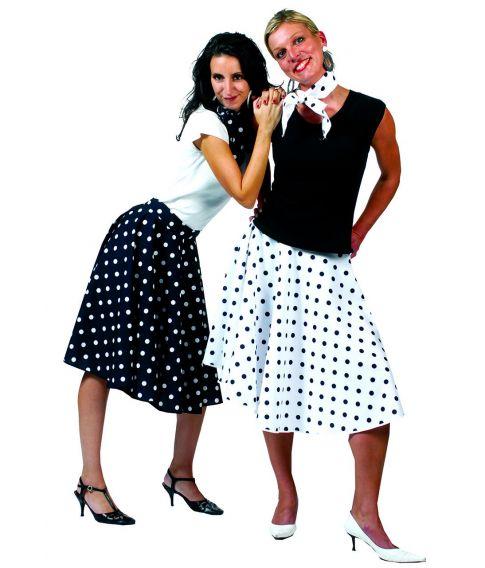 Sort / Hvid nederdel