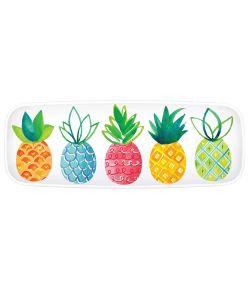 Flot plastik fad med Ananas motiver