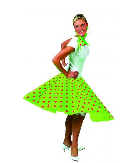 Neongrøn nederdel