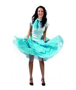 Blå nederdel