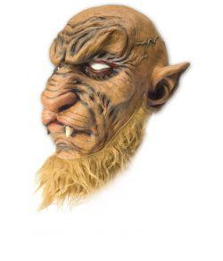 The Beast maske i gummi til halloween udklædningen.