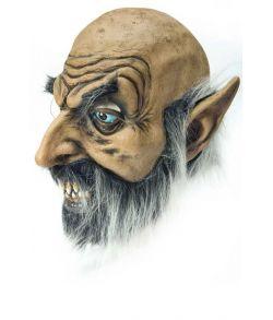 Hairy Gnome maske med skæg og spidse ører.