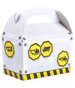 4 stk. flotte Construction party box i pap