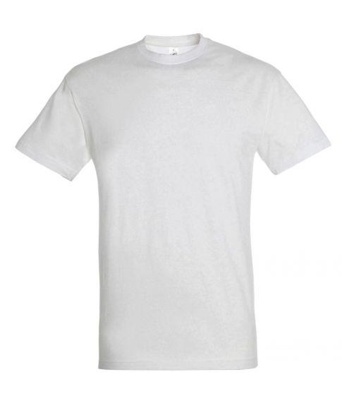 Hvid herre t-shirt med korte ærmer og rund hals