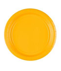8 stk billige gule paptallerkner