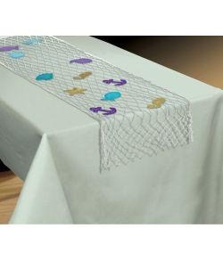 Flot fiskenet bordløber med pynt