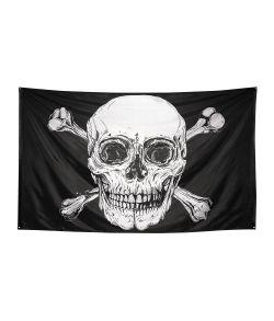 Stort flot piratflag i polyester