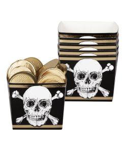 6 stk. flotte pirat snack bægre i pap