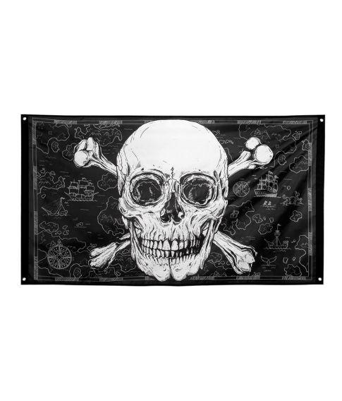 Flot piratflag i polyester