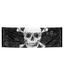 Stort pirat banner i polyester
