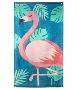 Stort flamingo flag i polyester