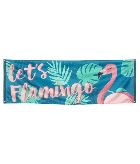 Stort flot flamingo banner i polyester