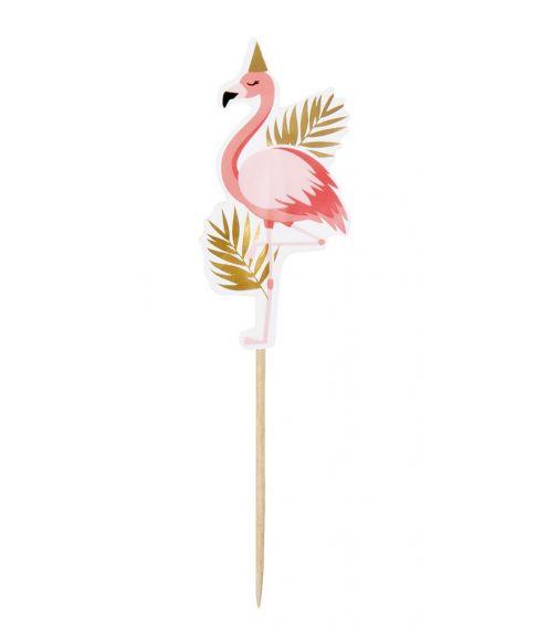 12 stk. flotte flamingo cocktail sticks