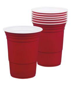 6 stk. store røde kopper