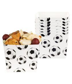 6 stk. flotte fodbold snackbægre i pap