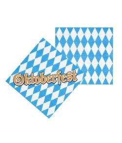 12 stk. Oktoberfest servietter i papir.