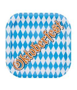 6 stk. firkantede Oktoberfest tallerkner