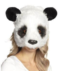 Flot panda plush halvmaske