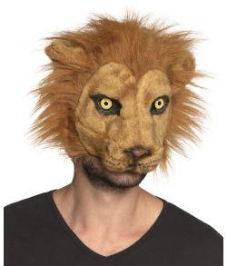 Løve plush halvmaske