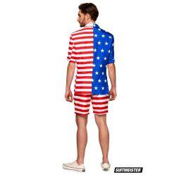Billigt Suitmeister jakkesæt med det amerikanske flag til 4 juli