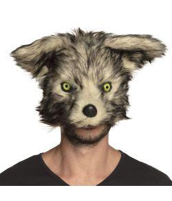 Flot ulv plush halvmaske til f.eks. varulve udklædningen