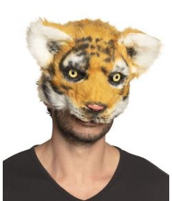 Flot tiger plush halvmaske