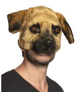 Flot hund plush halvmaske