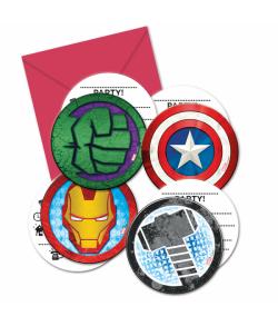 Avengers invitationer til børnefødselsdagen.