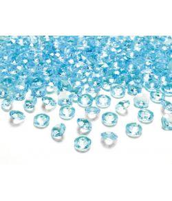 Turkis diamant konfetti,100 stk.