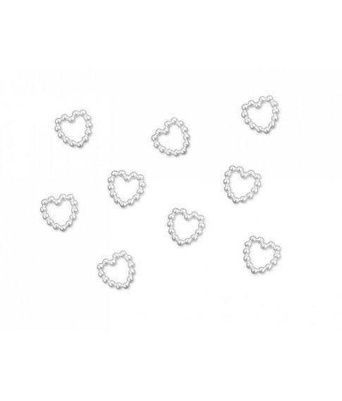 Hjerte konfetti med perler.