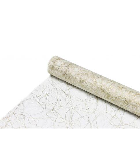 Sizoweb bordløber hvid og guld
