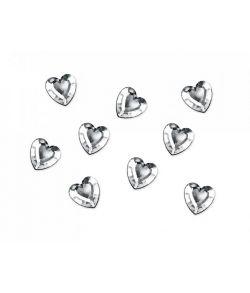 Hjerte konfetti i klart glas til konfirmation og bryllup.