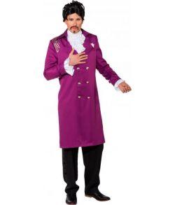 Lilla jakke med nitter og knapper til Prince udklædningen.