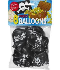 Flotte pirat balloner med dødningehoveder.