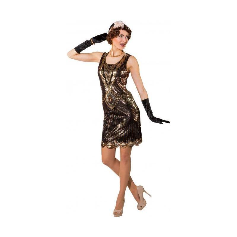 47860655c4a4 Flot Charleston paillet kjole med pailletter i kobber