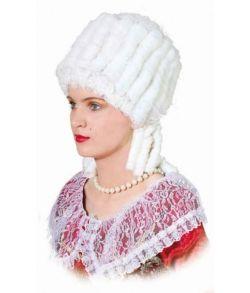 Marie Antoinette paryk hvid