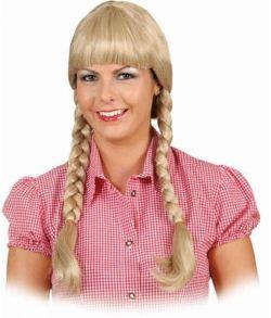 Heidi paryk med fletninger til Oktoberfest udklædningen.