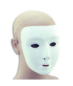 Køb billig hvid maske i tyndt plastik med elastik.