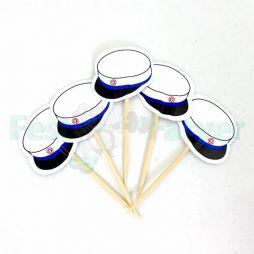 Flotte og billige tandstikker med blå huer til studenterfesten
