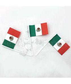 Flotte kageflag med det Mexicanske flag, 100 stk.