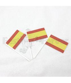 Flotte kageflag med det Spanske flag, 100 stk.