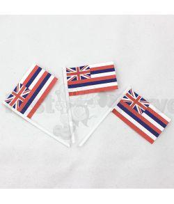 Flotte kageflag med det Hawaiianske flag, 100 stk.