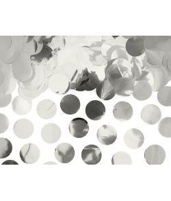 Flotte og billige sølv konfetti cirkler i sølvfolie