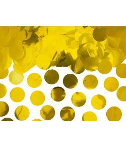 Flotte konfetti cirkler i guld folie til f.eks. hollywood festen eller guldbrylluppet